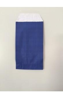 Bolsa papel estucada mate azul