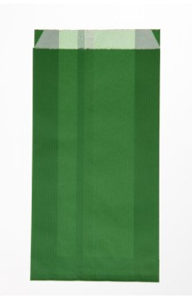 Bolsa celulosa verjurada verde oscuro  outlet