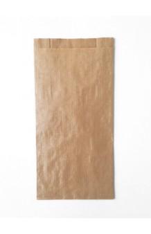 Bolsa plana con fuelle kraft, color natural (havana), 70g.